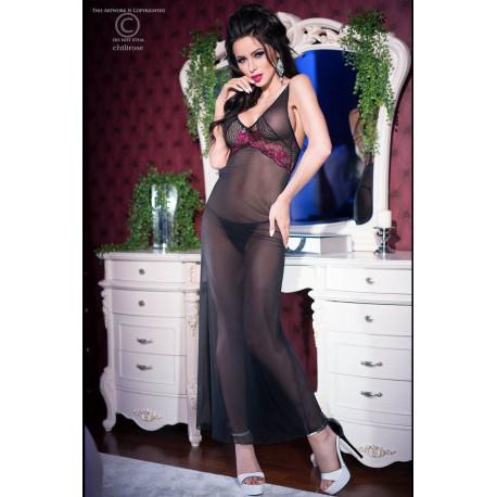 CR 4215 L Black/Pink Longgown+String