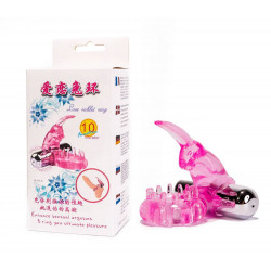 Cock Ring With Bullet Vibrator Pink 1
