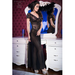 CR 4167 S Black Longgown+String