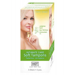 HOT INTIMATE CARE Soft Tampons (Green Box) 5 pcs