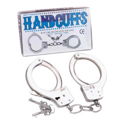 Large Metal Handcuffs With Keys