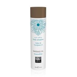 Massage oil masculine - Amber & Eucalyptus oil 100ml