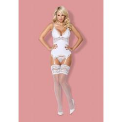 810-COR-2 corset & thong white S/M