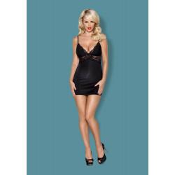 810-CHE-1 chemise & thong black S/M
