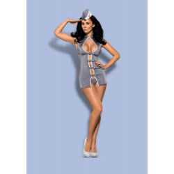 Stewardess 3 pcs costume grey S/M