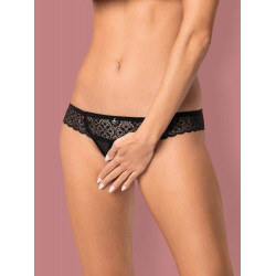 Shibu crotchless thong black S/M